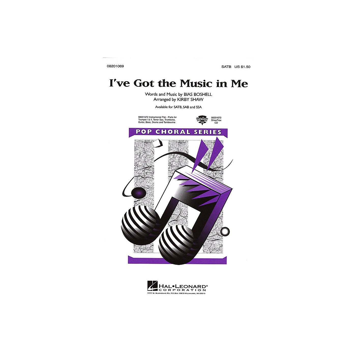 Hal Leonard I've Got the Music in Me SATB arranged by Kirby Shaw thumbnail