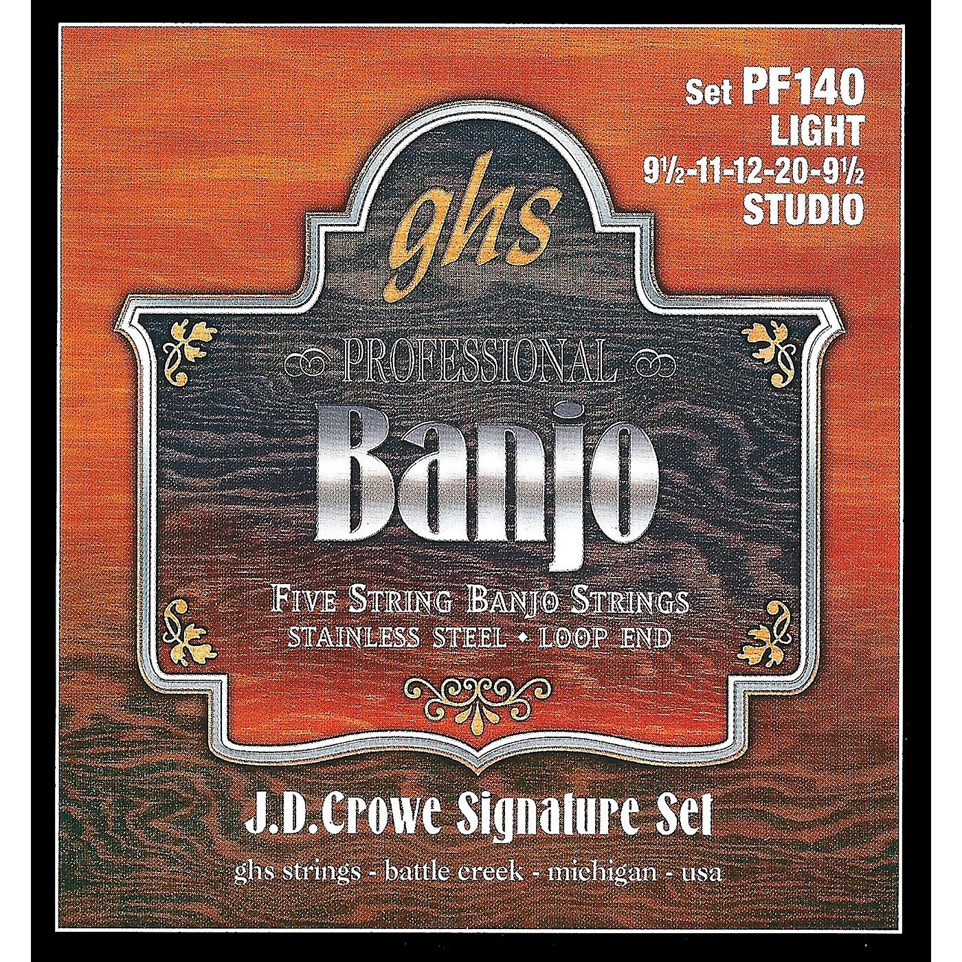 GHS J. D. Crowe Studio Signature 5-String Banjo Strings Light thumbnail