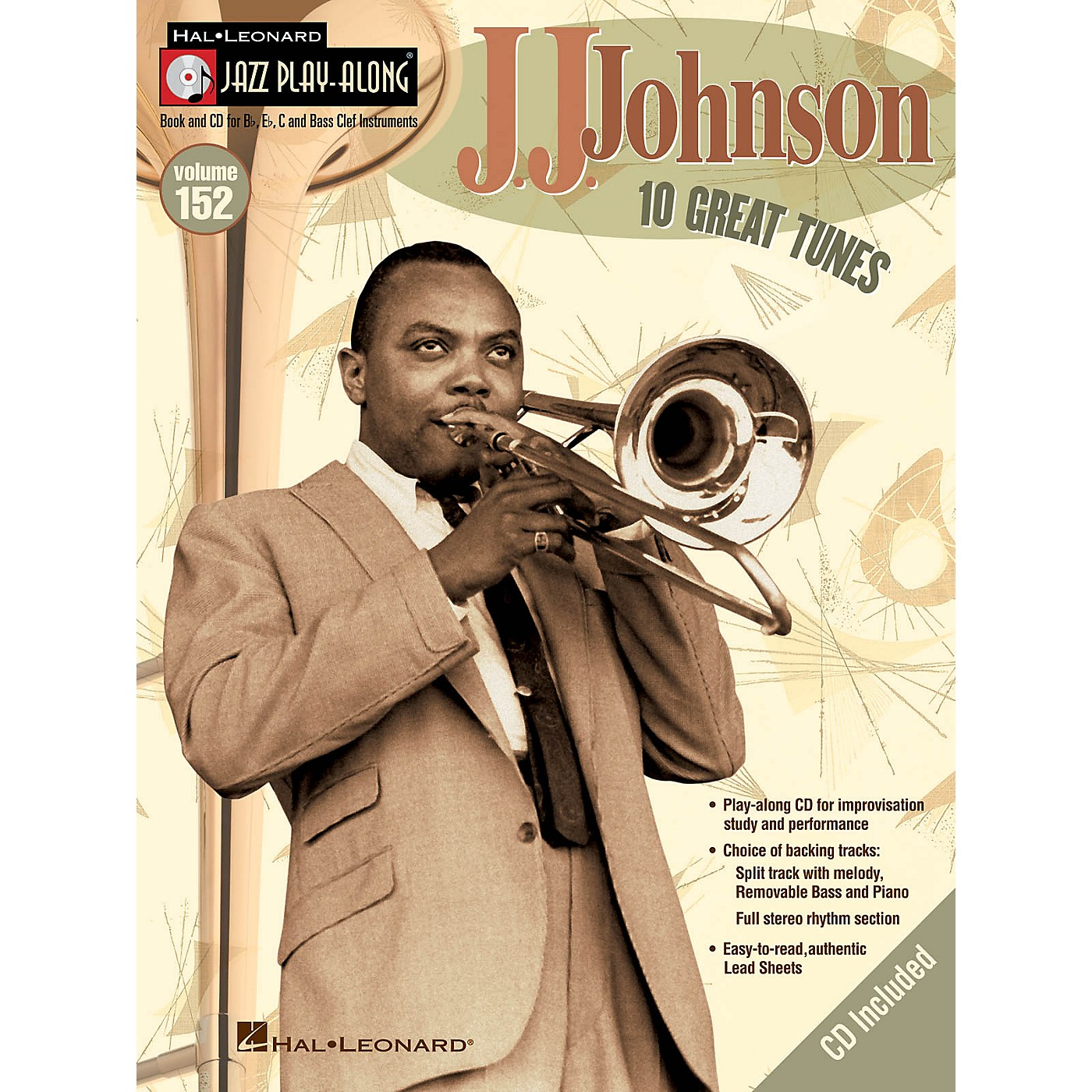 Hal Leonard J.J. Johnson (Jazz Play-Along Volume 152) Jazz Play Along Series Softcover with CD by J.J. Johnson thumbnail