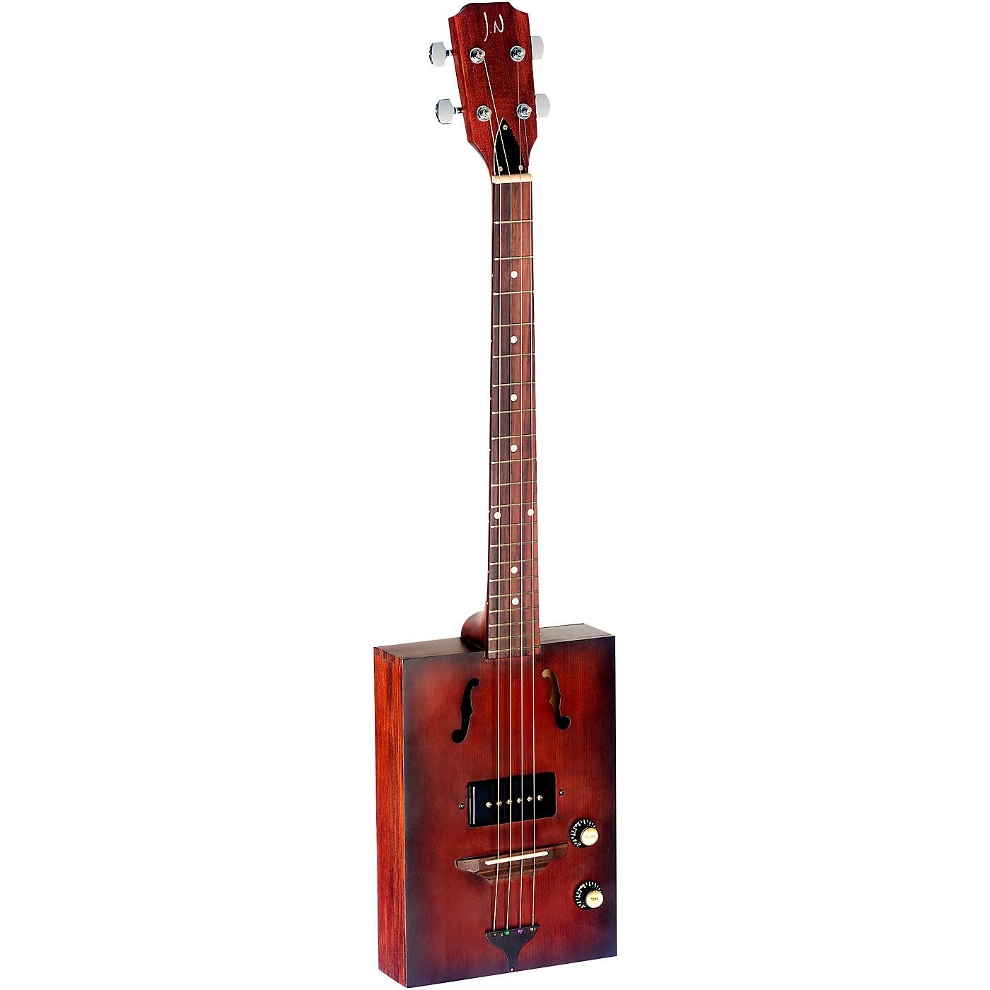 JN Guitars J.N. CASK Series Acoustic-Electric Cigar Box Guitar with Spruce Top thumbnail