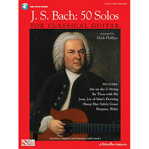 Cherry Lane J.S. Bach - 50 Solos for Classical Guitar Guitar Series Softcover Audio Online thumbnail