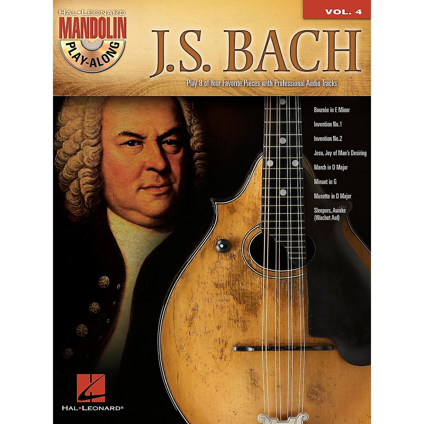 Hal Leonard J.S. Bach - Mandolin Play-Along Vol. 4 Book/CD thumbnail