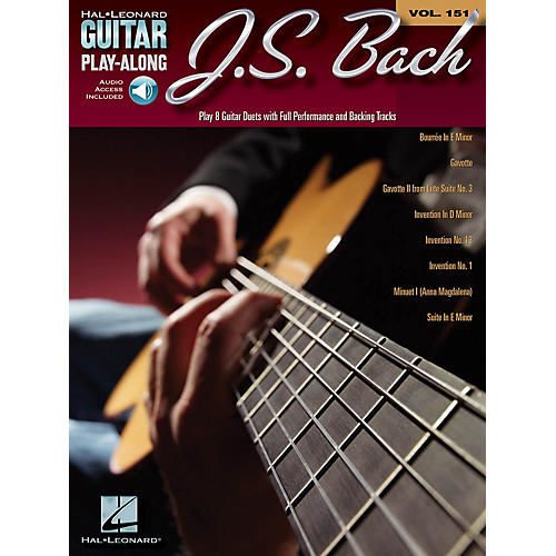 Cherry Lane J.S. Bach (Guitar Play-Along Volume 151) Guitar Play-Along Series Softcover Audio Online thumbnail