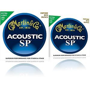 Martin MSP3000 SP 80/20 Bronze Extra Light 2-Pack Acoustic Guitar Strings