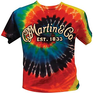 Martin Logo Men's T-Shirt Tie Dye Large