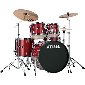 Tama Imperialstar 5-Piece Drum Set with Cymbals Candy Apple Mist