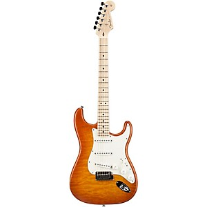 Fender Custom Shop Custom Deluxe Stratocaster Electric Guitar with Maple Fingerboard Honey Burst Maple