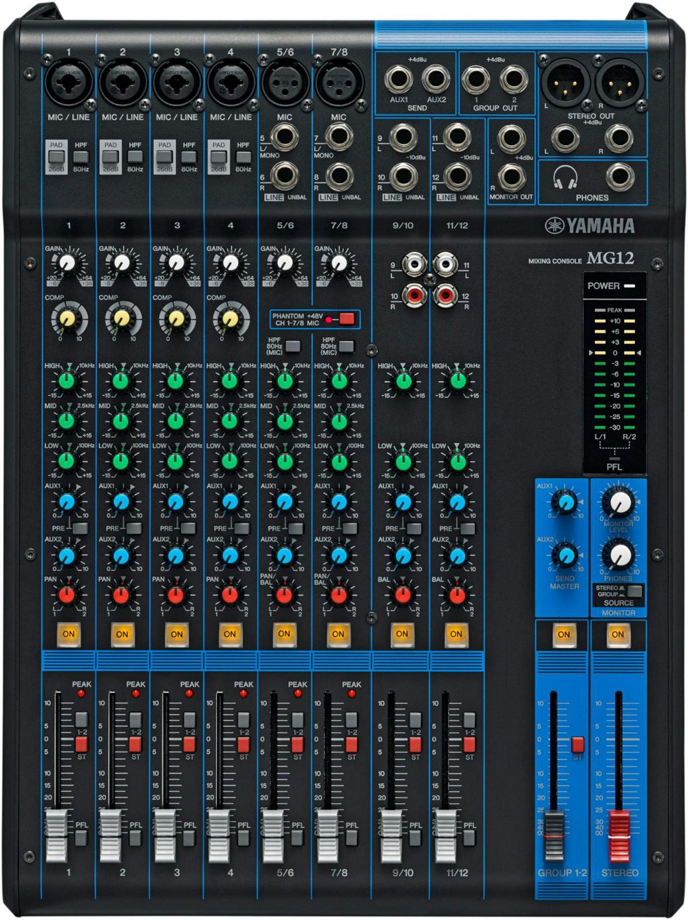 yamaha mg12 12 channel mixing console mixer ebay. Black Bedroom Furniture Sets. Home Design Ideas