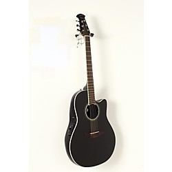 Ovation Celebrity Standard Mid-Depth Cutaway Acoustic-Electric Guitar Black 1908 -  USED005020 CS24-5