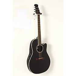 Ovation Celebrity Standard Mid-Depth Cutaway Acoustic-Electric Guitar Black 1908 -  USED005021 CS24-5