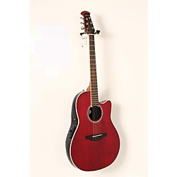 Ovation Celebrity Standard Mid-Depth Cutaway Acoustic-Electric Guitar Ruby Red 8 -  USED005009 CS24-RR
