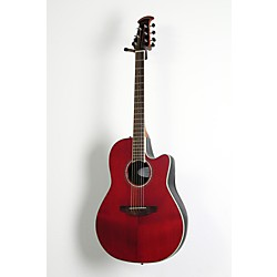 Ovation Celebrity Standard Mid-Depth Cutaway Acoustic-Electric Guitar Ruby Red 1 -  USED005014 CS24-RR