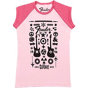 Fender Guitar Formula Youth T-Shirt Pink 8 YR/L