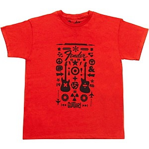 Fender Guitar Formula Youth T-Shirt Red 6-7 YR/M