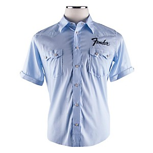 Fender Short Sleeve Garage Shirt Light Blue Extra-Large