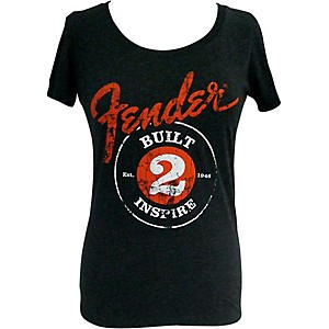 Fender Built 2 Inspire Ladies T-Shirt Black Medium