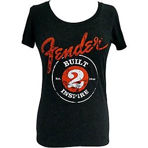 Fender Built 2 Inspire Ladies T-Shirt Black XLarge