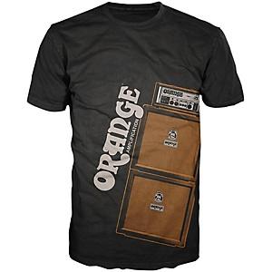 Orange Amplifiers Men's Stack T-Shirt Black Large
