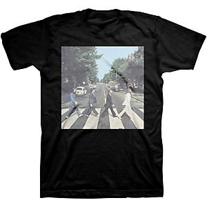 Beatles Beatles Abbey Road Mens T-Shirt Black Medium