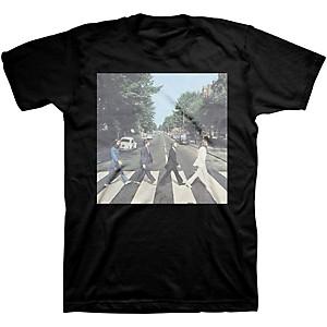 Beatles Beatles Abbey Road Mens T-Shirt Black Large