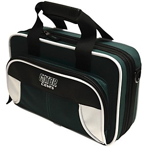 Gator Spirit Series Lightweight Clarinet Case White and Green