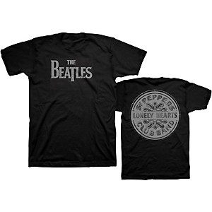 Beatles Beatles Lonely Hearts T-Shirt Black XX-Large