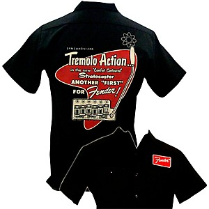 Fender Tremolo Work Shirt Black Medium