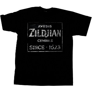 Zildjian Vintage Sign T-Shirt Black Small