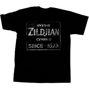 Zildjian Vintage Sign T-Shirt Black X-Large