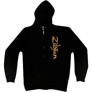 Zildjian Vertical Logo Zip Hoodie Black Large