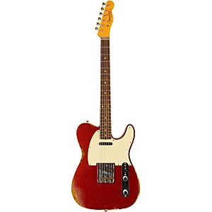 Fender Custom Shop 1960 Relic Telecaster Electric Guitar Aged Red Sparkle