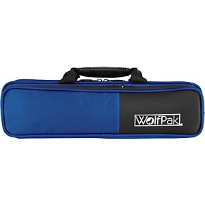 WolfPak Colors Series Lightweight Polyfoam Flute Case Blue