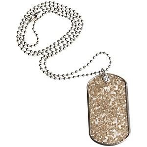 DrumTags Glass Glitter Silver