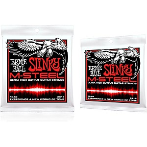 Ernie Ball 2915 M-Steel Skinny Top Heavy Bottom Electric Guitar Strings 2-Pack