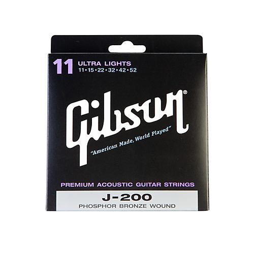 Gibson J200UL Deluxe Phosphor Bronze Ultra Light Acoustic Guitar Strings-thumbnail
