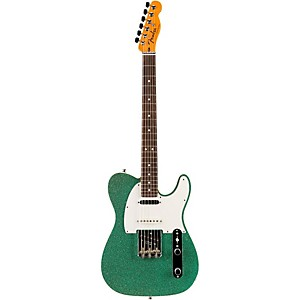 Fender Custom Shop Nashville American Telecaster Electric Guitar Sea Foam Sparkle Rosewood