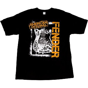 Fender Spraypaint Graffiti T-Shirt Black XX-Large