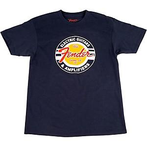 Fender Guitars and Amps Logo T-Shirt Navy Medium