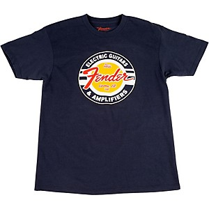 Fender Guitars and Amps Logo T-Shirt Navy Small
