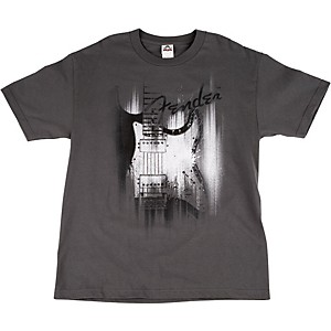 Fender Airbrushed Strat T-Shirt Gray Small