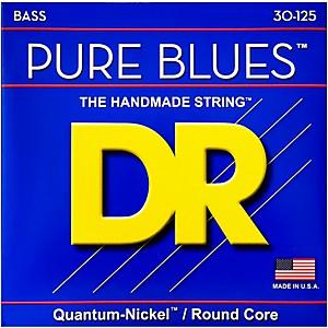 DR Strings Pure Blues Medium 6-String Bass Strings (30-125)