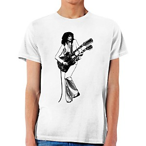 Jimmy Page Double Guitar Icon T-Shirt X-Large