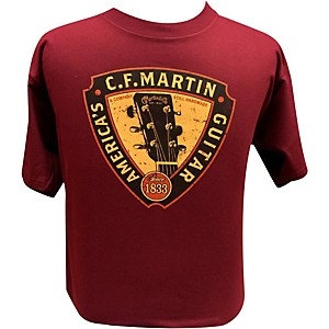 Martin Triangle Headstock T-Shirt Maroon 3X
