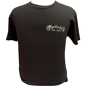 Martin Guitar Body On Back T-Shirt Black Large