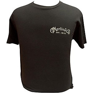 Martin Guitar Body On Back T-Shirt Black Medium
