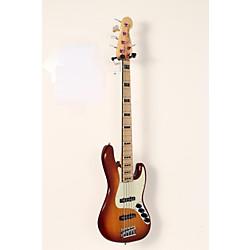 Fender American Elite Jazz Bass V, Maple Electric Bass Guitar Tobacco Sunburst 1 -  USED005009 0197102752