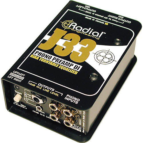 Radial Engineering J33 RIAA Turntable Preamp Direct Box thumbnail