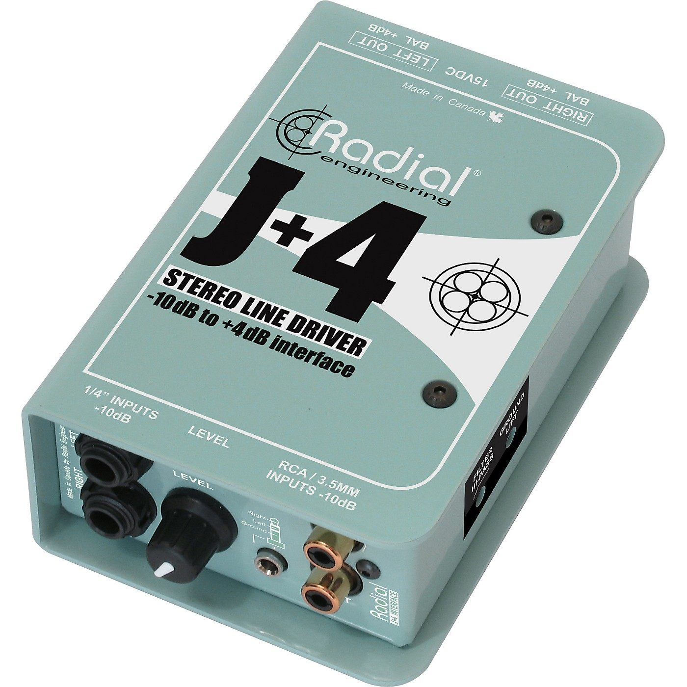 Radial Engineering J+4 Stereo Line Driver -10dB to +4dB Interface thumbnail