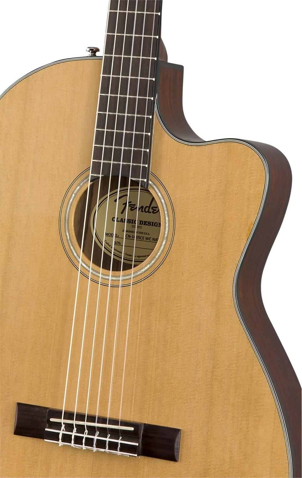 fender cn 140sce with case nylon string acoustic electric guitar natural ebay. Black Bedroom Furniture Sets. Home Design Ideas