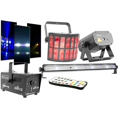 CHAUVET DJ JAM Pack Gold Projection Lighting Effect with Fog Machine and UV Wash/Strobe thumbnail